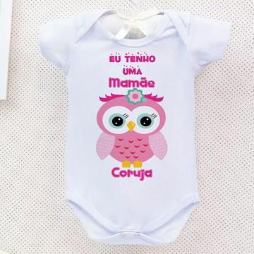 Body Bebe Mamãe Coruja