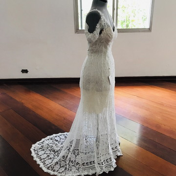 Vestido de noiva boho chic modelo Sicília