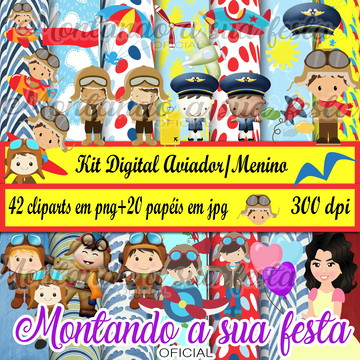 Kit Digital Aviador/Menino