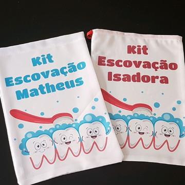 Saquinhos kit escovação personalizado
