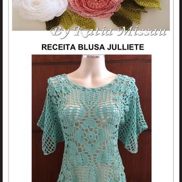 Receita Blusa Juliette -PDF-enviada para seu e-mail