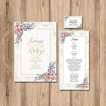 Kit de Papelaria para casamento - Arte Digital