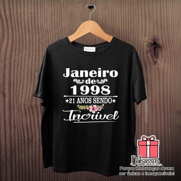 7933e5be4 Camiseta Mês e data de nascimento