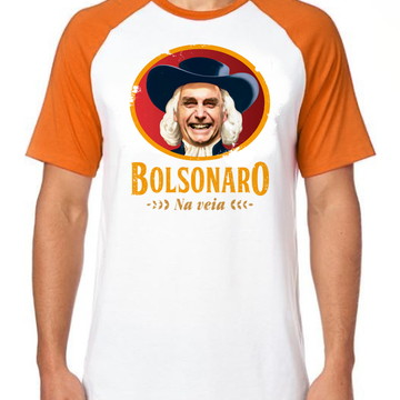 camiseta blusa Bolsonaro presidente na veia