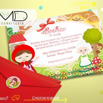 Convite Personalizado Chapeuzinho Vermelho Cute