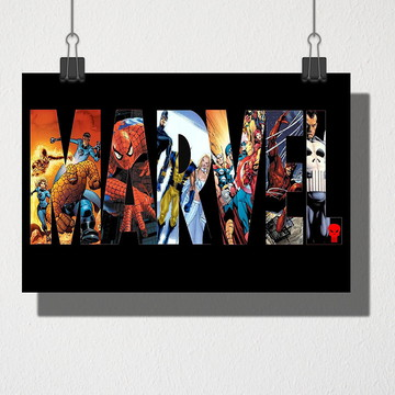 Poster A4 Marvel