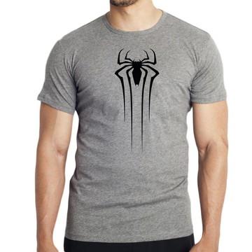 5fa974cb3 Camiseta Blusa Homem Aranha Preta Marvel