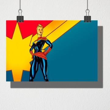 Poster A4 Capitã Marvel