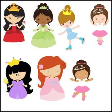 Vetores Princesas CDR, EPS, Ai e PNG (50 Vetores CDR e Ai)