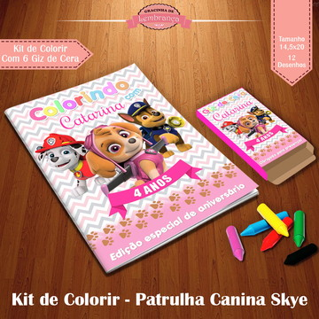 Kit de Colorir - Patrulha Canina Skye
