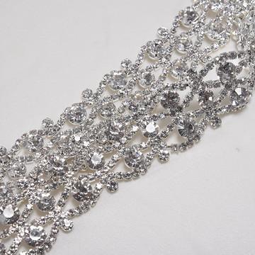 Cinto de strass prata para vestido de noiva ou de festa