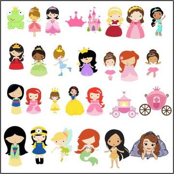 Vetores Princesas e Princepes CDR, EPS, Ai e PNG (74 Vetores