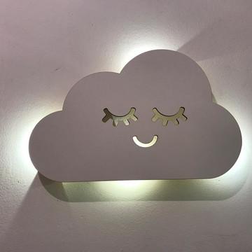 Luminaria Nuvem Com olhos Cilios