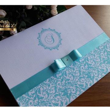 PROMOÇÃO Convite Casamento/15 Anos Azul Tifany