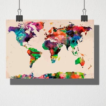 Poster A4 Mapa mundi