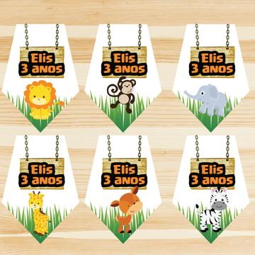 Bandeirola personalizado decoração Festa-Safari