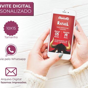 Convite Touro Ferdinando Para Whatsapp