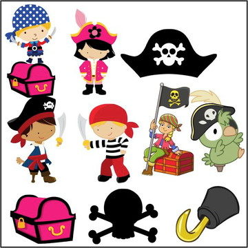 Vetores Piratas CDR, EPS, Ai e PNG (50 Vetores CDR e Ai)