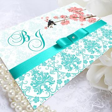 Convite de Casamento Passarinhos