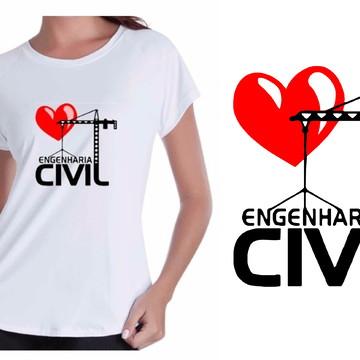 Camiseta Curso Engenharia Civil Feminina