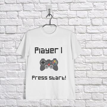 Camisetas Player 1 e Player 2