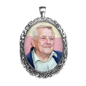 Pingente Relicário Prata Com A Sua Foto medalha buque