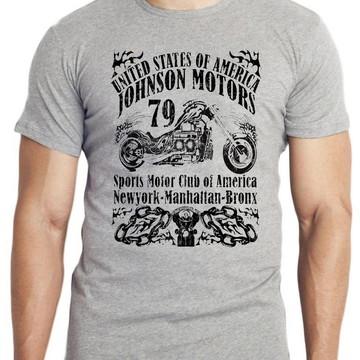 camiseta blusa Moto Johnson Motors 79 USA harley davidsom