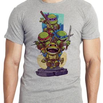 camiseta blusa mini tartaruga ninja turtles