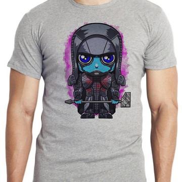 camiseta blusa mini Ronan o Acusador guardiões galáxia