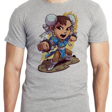 camiseta blusa mini chun li street figther game