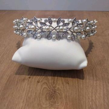 Tiara de Noiva Pérolas - Lis
