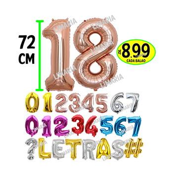 Balão metalizado GRANDE 72/75CM festa rose gold Numero