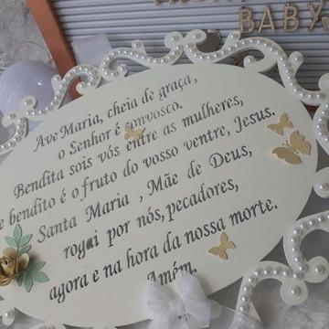 Quadro Porta de Maternidade Ave Maria
