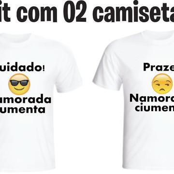 Camiseta Namorado E Namorada Ciumenta - Kit C/02