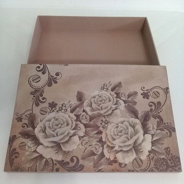 caixa documentos floral