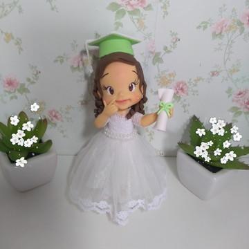 Topo de Bolo Formanda em Biscuit- Formatura Infantil