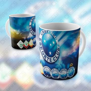 Caneca Cruzeiro Esporte Clube Time Porcelana Presente