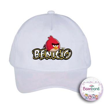 Boné infantil Angry Birds (com nome)