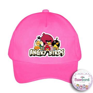 Boné infantil Angry Birds Pink