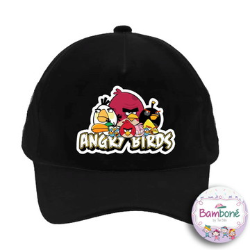 Boné infantil Angry Birds Preto