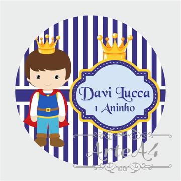 Adesivo Rótulo para Latinha Lembrancinha Príncipe