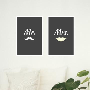Kit de quadros - Mr - Mrs.
