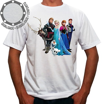 Camiseta Frozen Personagens Pose