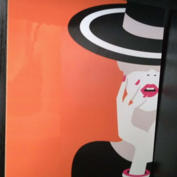 Placa Decorativa -Moda - Mulher Fashion 6 - REF0502