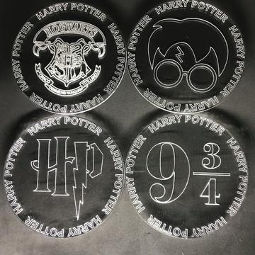 Porta Copo Apoio Bolacha Harry Potter 9 3/4 Hogwarts