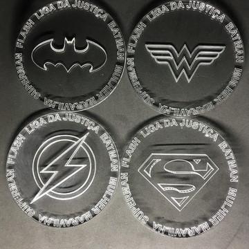 Porta Copo Apoio Bolacha Liga Da Justiça Superman Batman