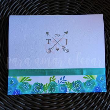 Convite de Casamento Vintage Tiffany