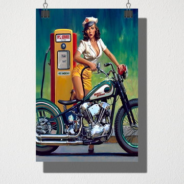 Poster A4 Posto de gasolina