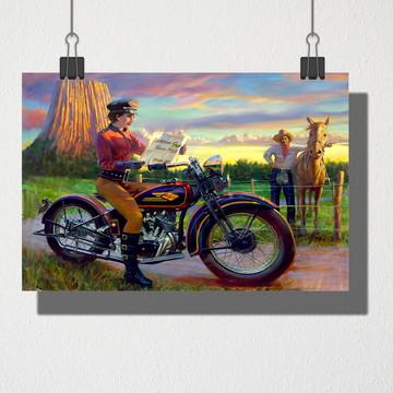 fa6aaa6380 Poster A4 Cavalo e moto