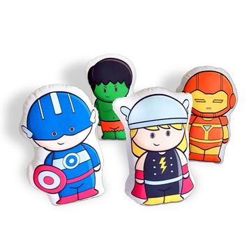 Kit Almofadas - Meninos fantasiados de Super-Heróis